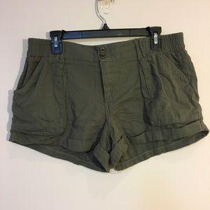 Rewind Army green gauze shorts, 13